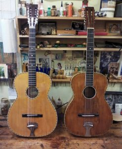 New and 90 year old 12 strings.