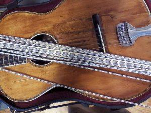 Replica purfling on a well worn Tonk 12.